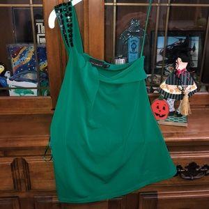 Green Dress Tank Top